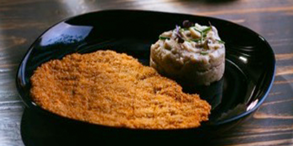 BEEF SCHNITZEL & TRUFFLED MASHED POTATOES