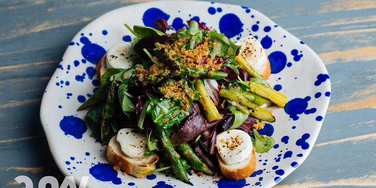ASPARAGUS & GOAT CHEESE SALAD